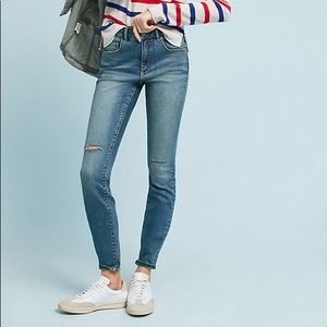 Pilcro Ultra High Rise Distressed Skinny Jeans, 27
